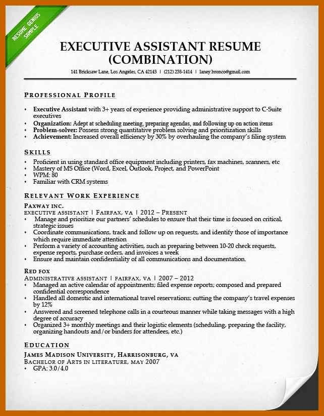 Combined Resume and Cover Letter Awesome 7 8 Administrative Cover Letter