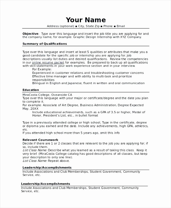 Combined Resume and Cover Letter Awesome Bination Resume Example – Trezvost