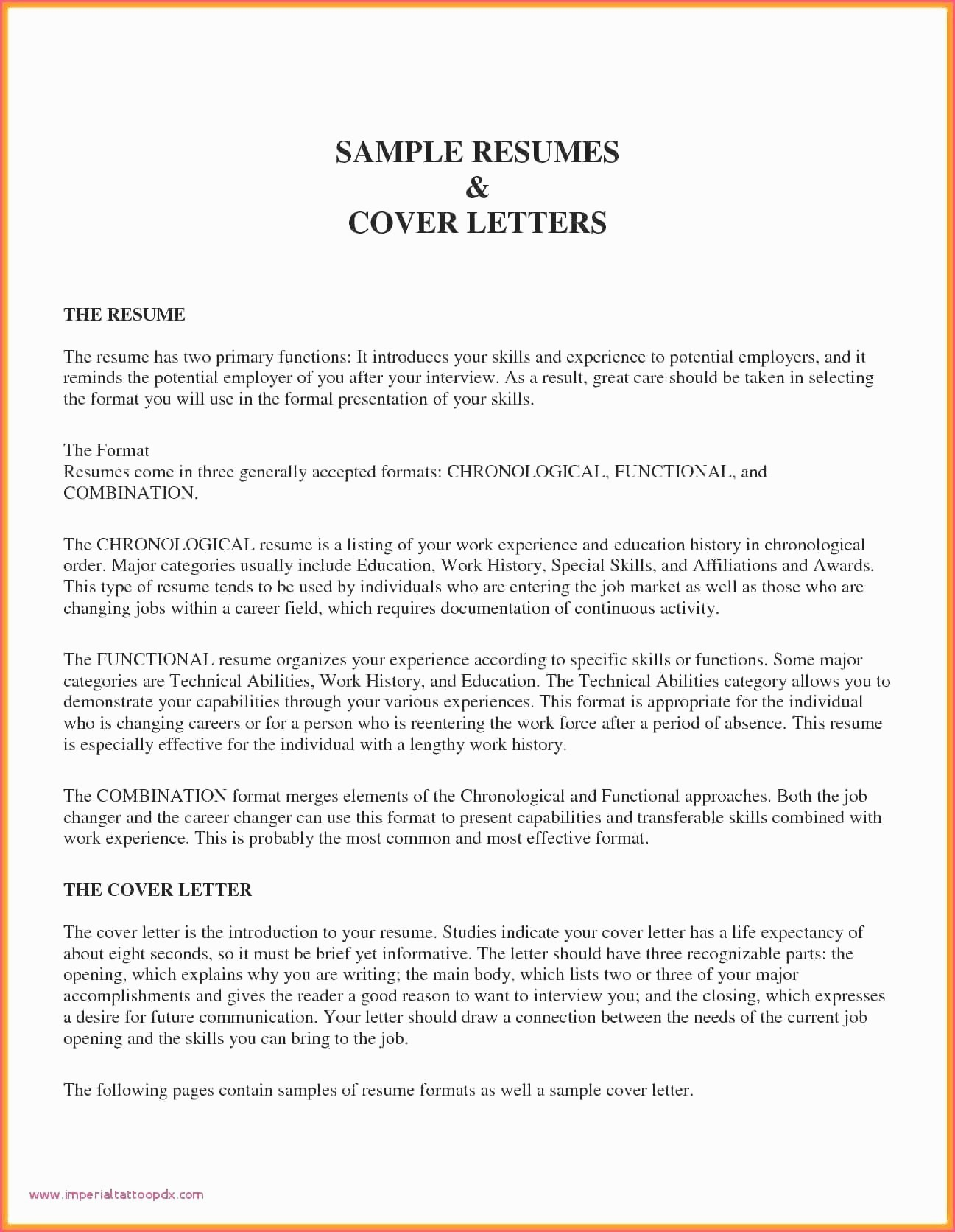 Combined Resume and Cover Letter Best Of New Bination Resume