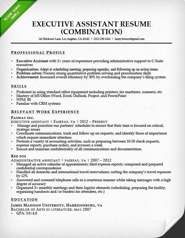 Combined Resume and Cover Letter Fresh Bination Resume Samples & Writing Guide