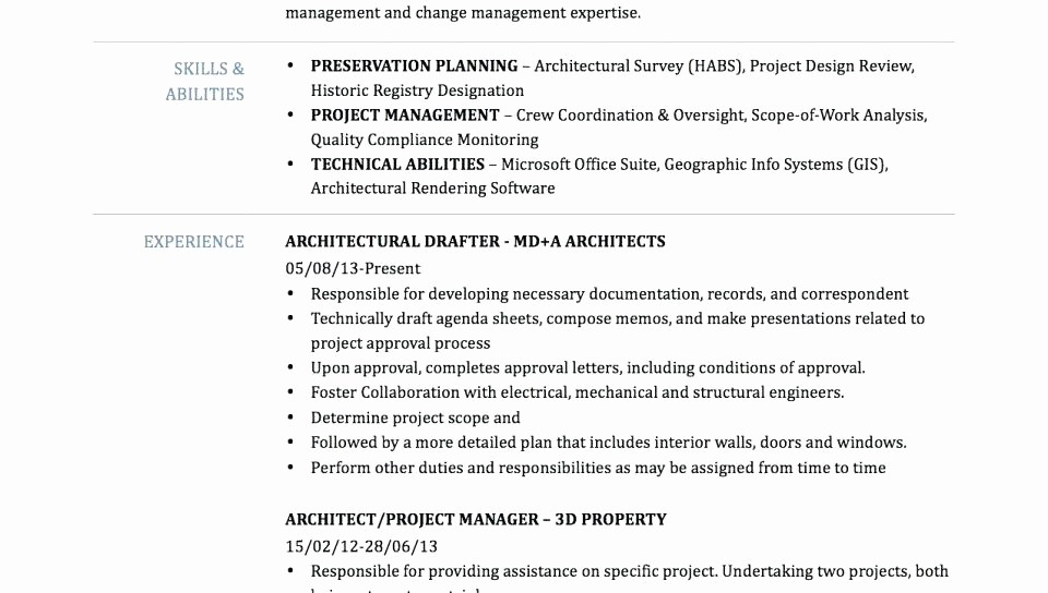 Combined Resume and Cover Letter Inspirational Draftsman Cover Letter Architectural Drafter Resume