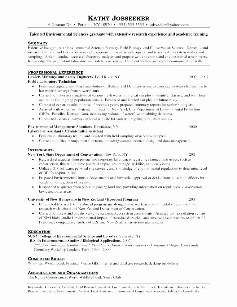 Combined Resume and Cover Letter Inspirational Sample Lab assistant Cover Letter – Trezvost