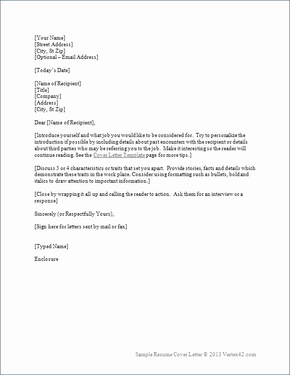 Combined Resume and Cover Letter Lovely Resume Cover Letter Template 2017