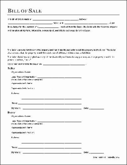 F961 Notarized General Bill of Sale Organization to Organization