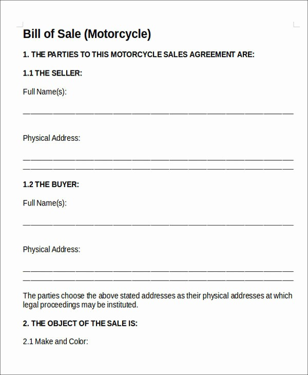 Commercial Vehicle Bill Of Sale Unique 10 Vehicle Sales Agreement Samples