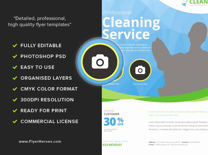 Community Clean Up Flyer Template Awesome Cleaning Service Flyer Template Flyerheroes