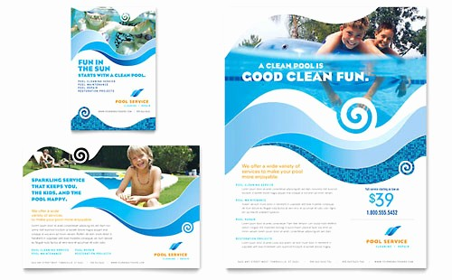 Community Clean Up Flyer Template Awesome Swimming Pool Cleaning Service Brochure Template Word