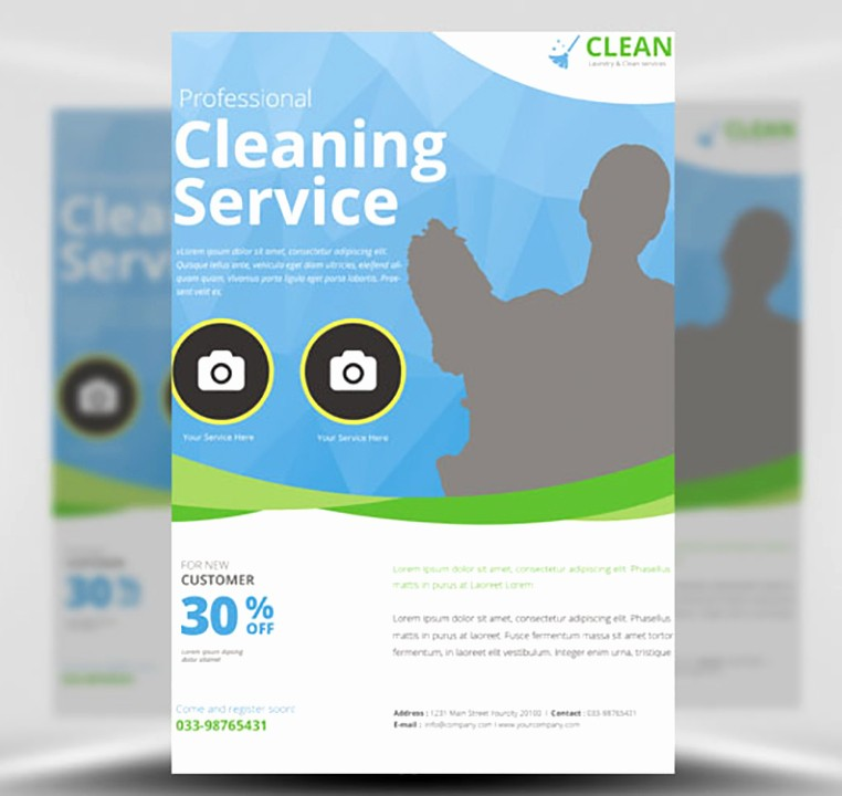 Community Clean Up Flyer Template Beautiful Cleaning Service Flyer Template Flyerheroes