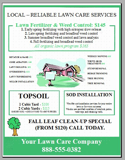 Community Clean Up Flyer Template Beautiful Lawn Care Estimate Templates