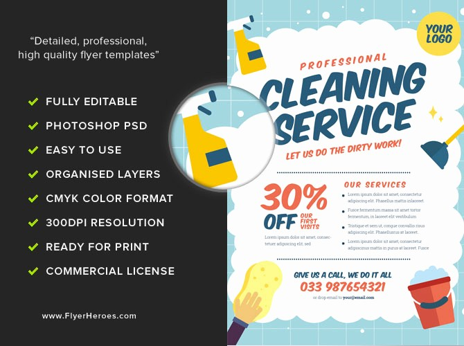 Community Clean Up Flyer Template Elegant Cleaning Service Flyer Template V2 Flyerheroes