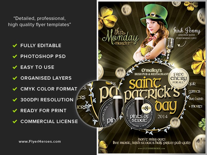 Community Clean Up Flyer Template Elegant St Patrick S Day event Flyer Flyerheroes