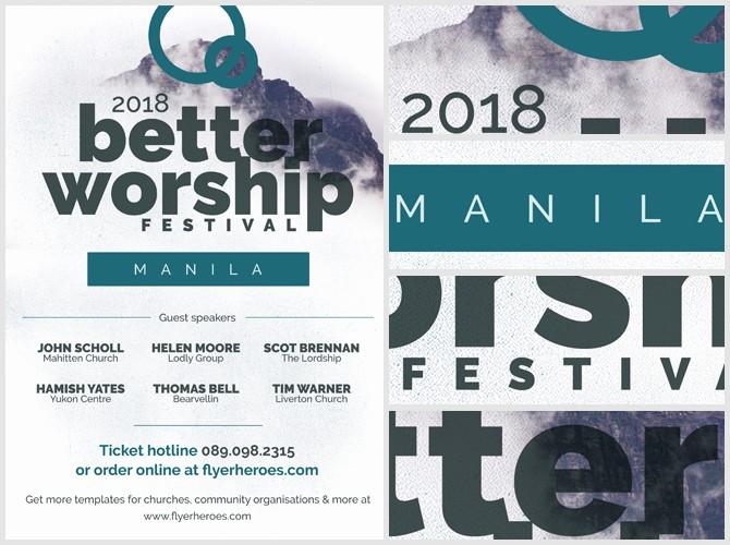 Community Clean Up Flyer Template Fresh Better Worship Flyer Template Flyerheroes