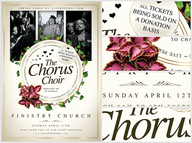 Community Clean Up Flyer Template Inspirational Chorus Choir Flyer Template Flyerheroes