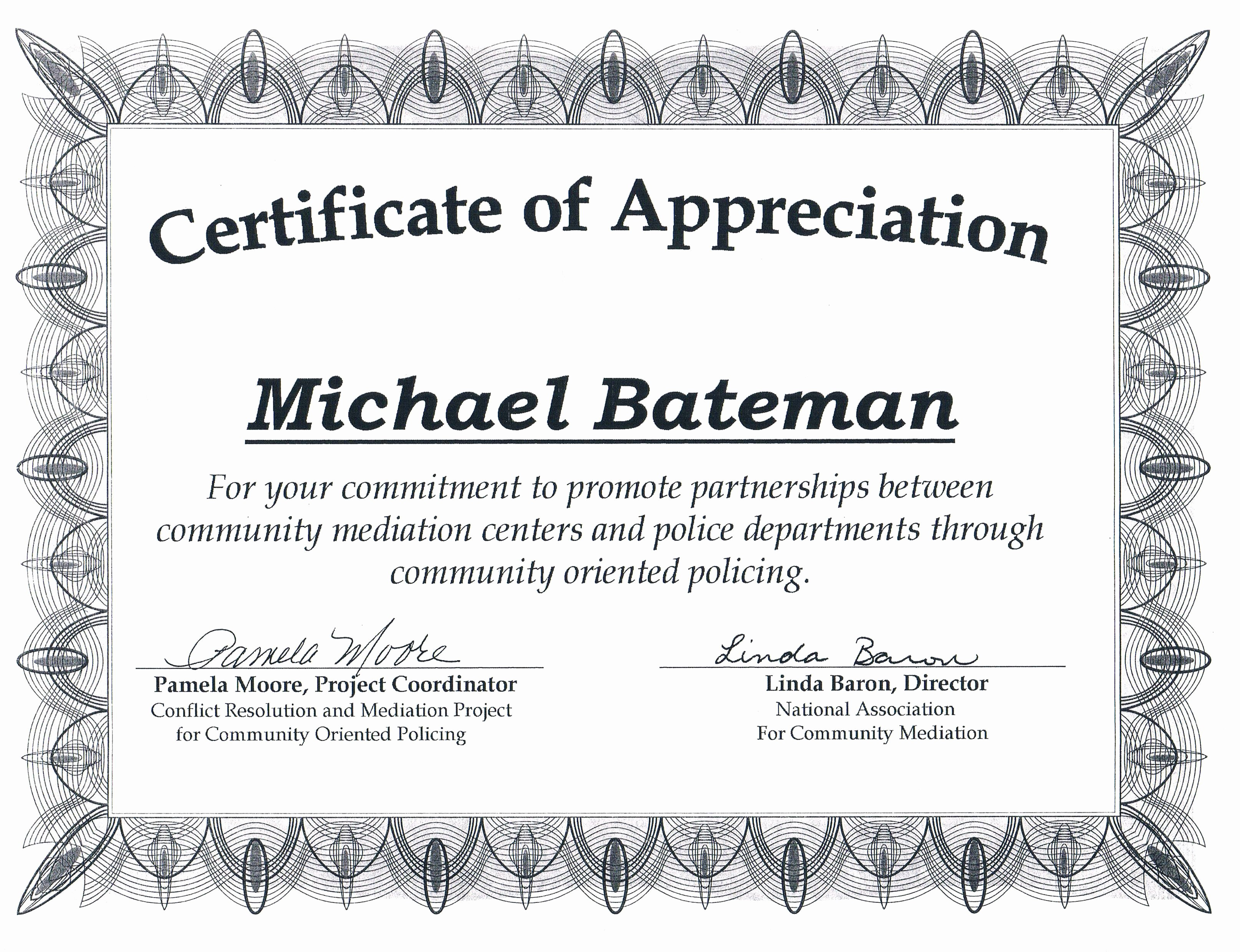 Community Service Certificate Template Free Beautiful Award Certificates