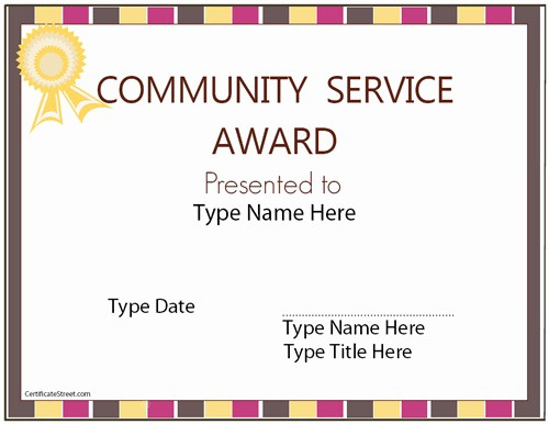 Community Service Certificate Template Free Best Of Munity College Student Recruitment Plan Template