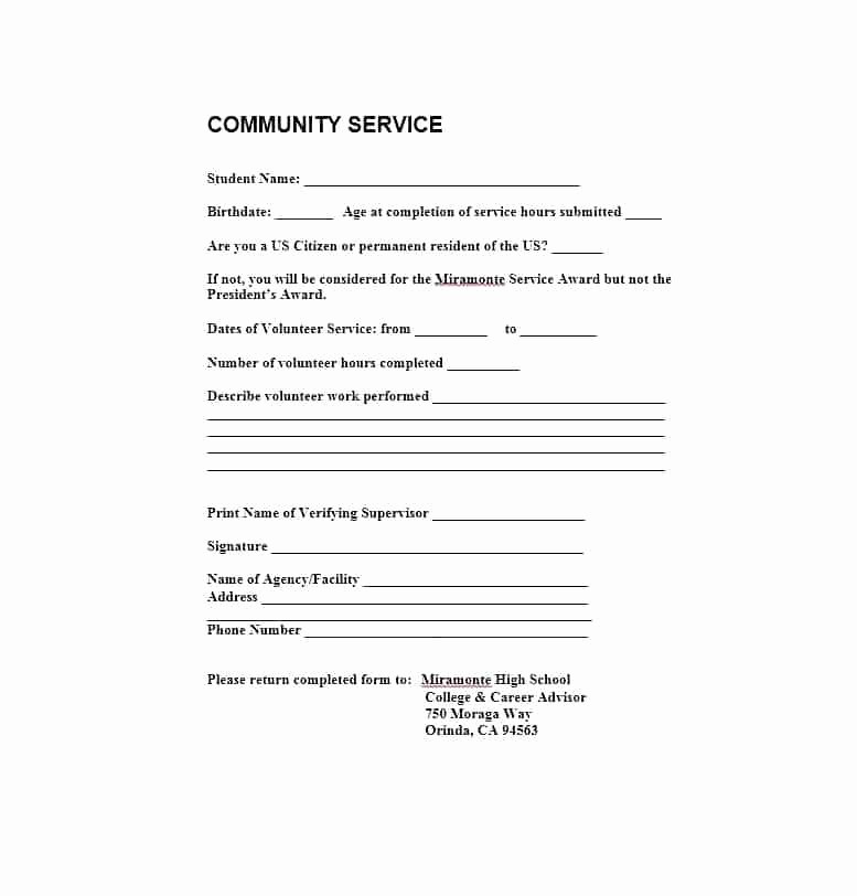 Community Service Certificate Template Free Best Of Munity Service Template – Juegame