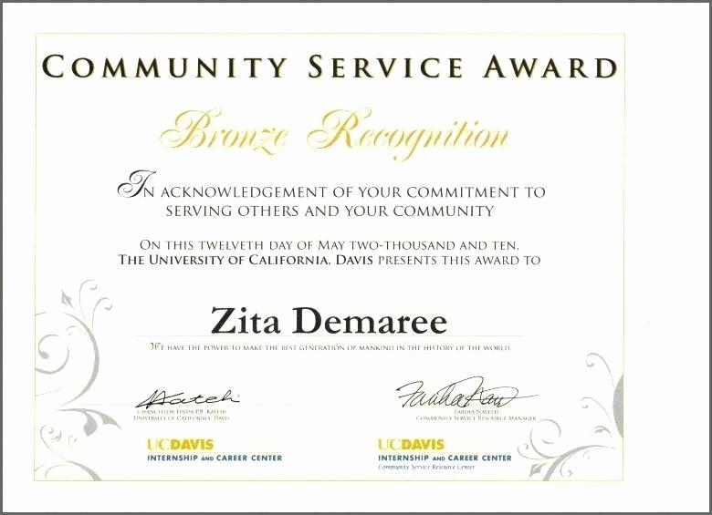 Community Service Certificate Template Free Best Of Sample Certificate Appreciation for Munity Service