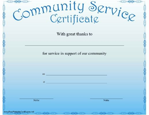 Community Service Certificate Template Free Elegant 17 Best Images About Volunteer Misc On Pinterest