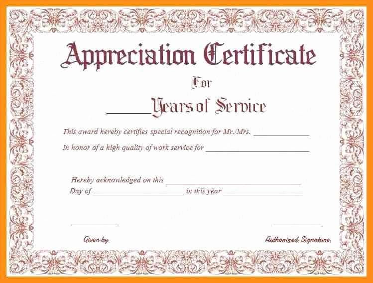 Community Service Certificate Template Free Fresh Long Service Award Certificate Template Templates