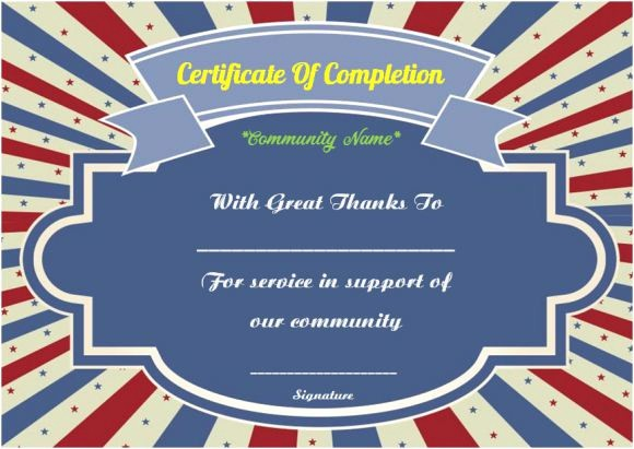 Community Service Certificate Template Free Fresh Munity Service Certificate Of Pletion 10 Ready Made