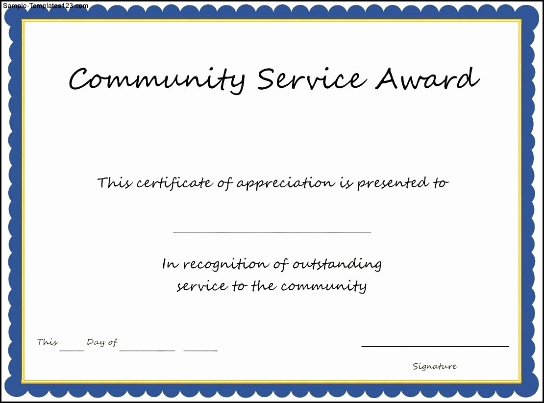Community Service Certificate Template Free Inspirational 31 Munity Service Template Sample Volunteer Timesheet