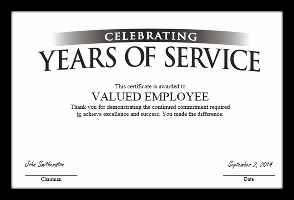 Community Service Certificate Template Free Luxury 8 Best Of Certificate Service Template Years