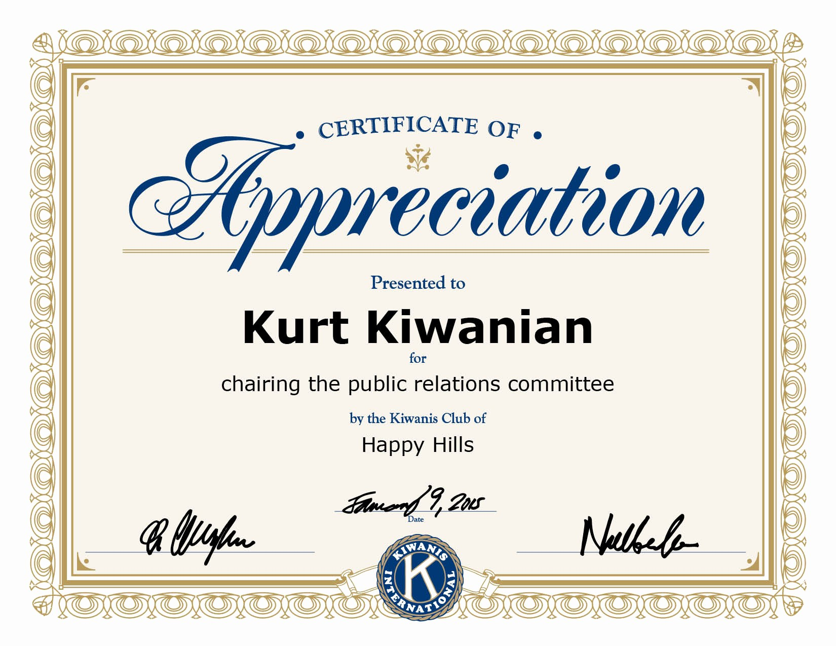 certificate appreciation template