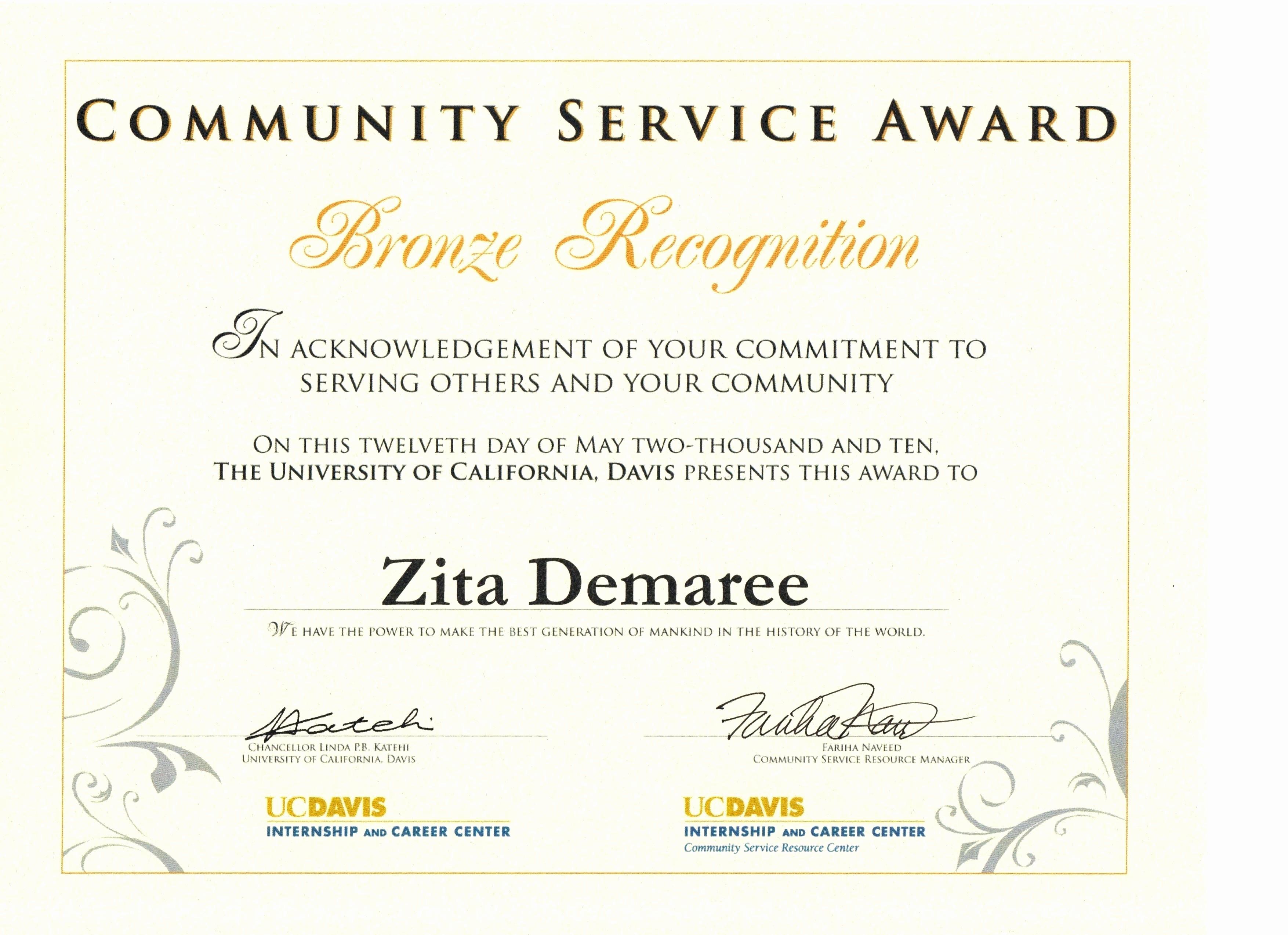 Community Service Certificate Template Free Unique Template Munity Service Hours Certificate Template
