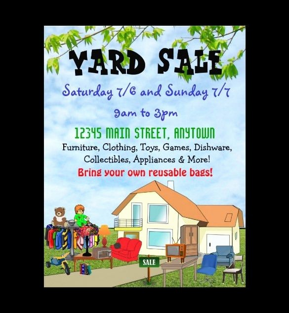 Community Yard Sale Sign Template Awesome Garage Sale Flyer Template Free Yourweek Eca25e