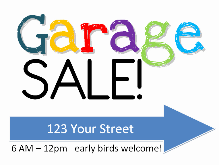 Community Yard Sale Sign Template Beautiful Garage Sale Sign Free Printable W Yardsale Tips Tricks Amy