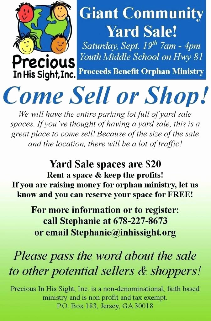 Community Yard Sale Sign Template Elegant Yard Sales Flyers E Find Your Treasure north Indoor