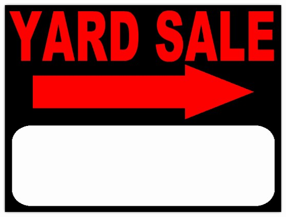 Community Yard Sale Sign Template Elegant Yard Sales