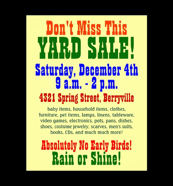 Community Yard Sale Sign Template Fresh 21 Best Yard Sale Flyer Templates & Psd Word Eps