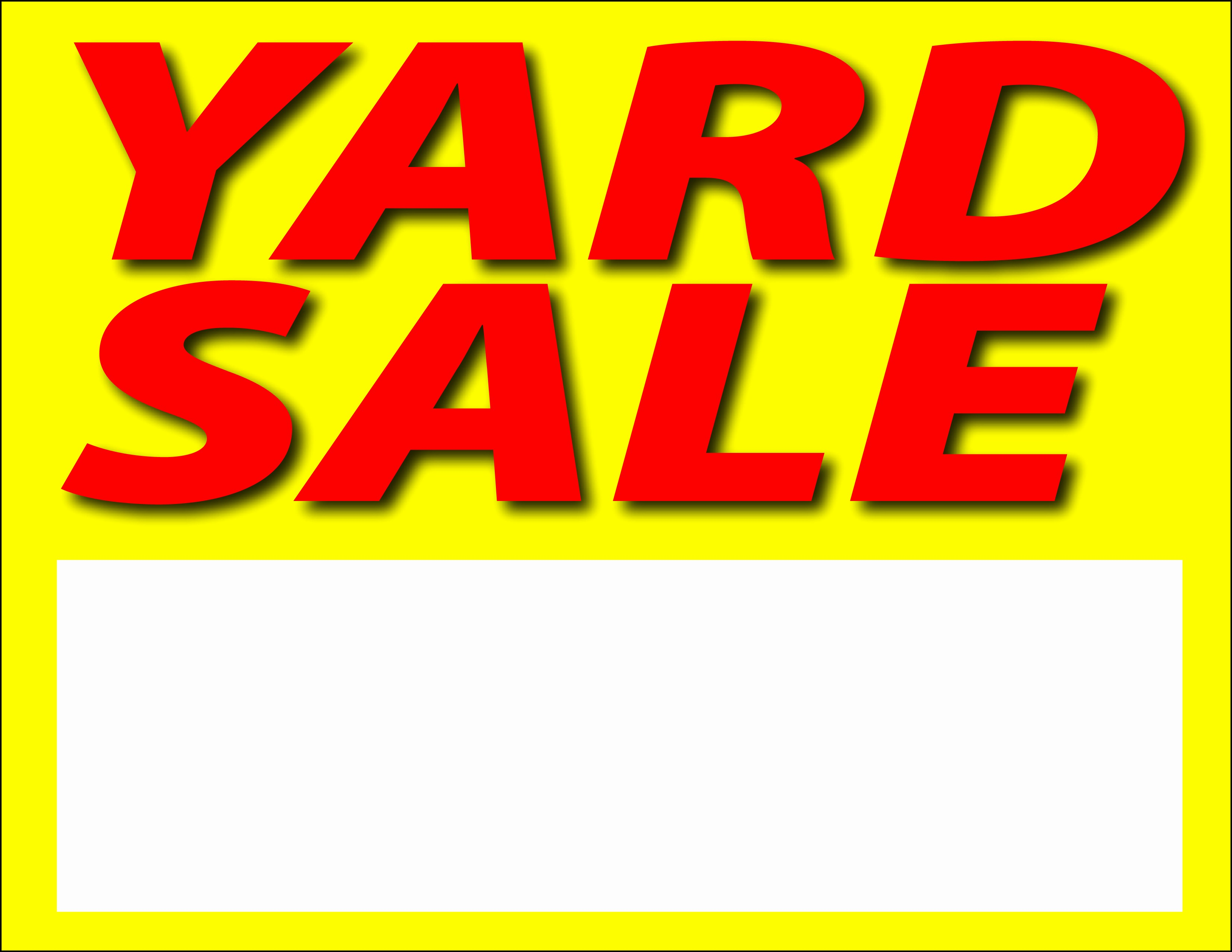 Community Yard Sale Sign Template Fresh 4 Sale