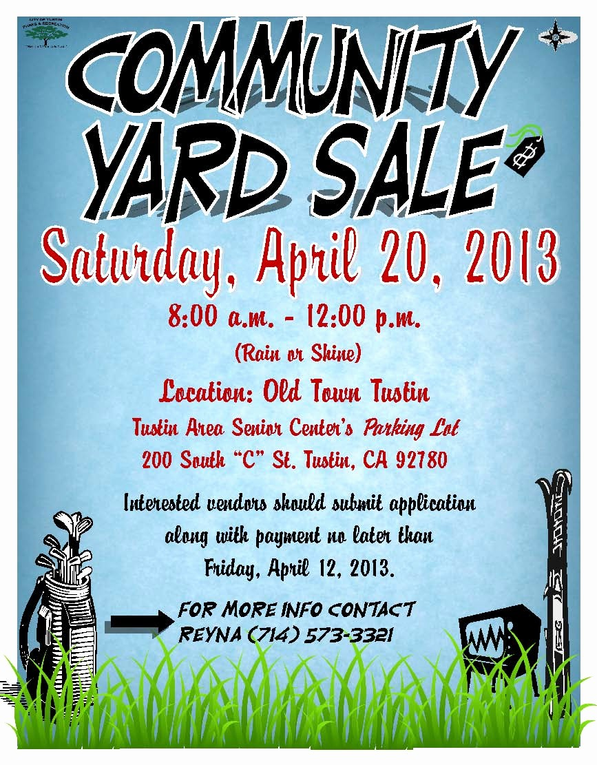 Community Yard Sale Sign Template Fresh Tustin Residents Action Mittee