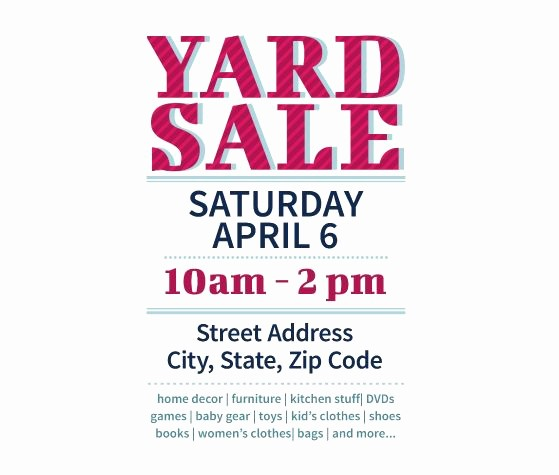 Community Yard Sale Sign Template Inspirational Download This Yard Sale Flyer Template and Other Free