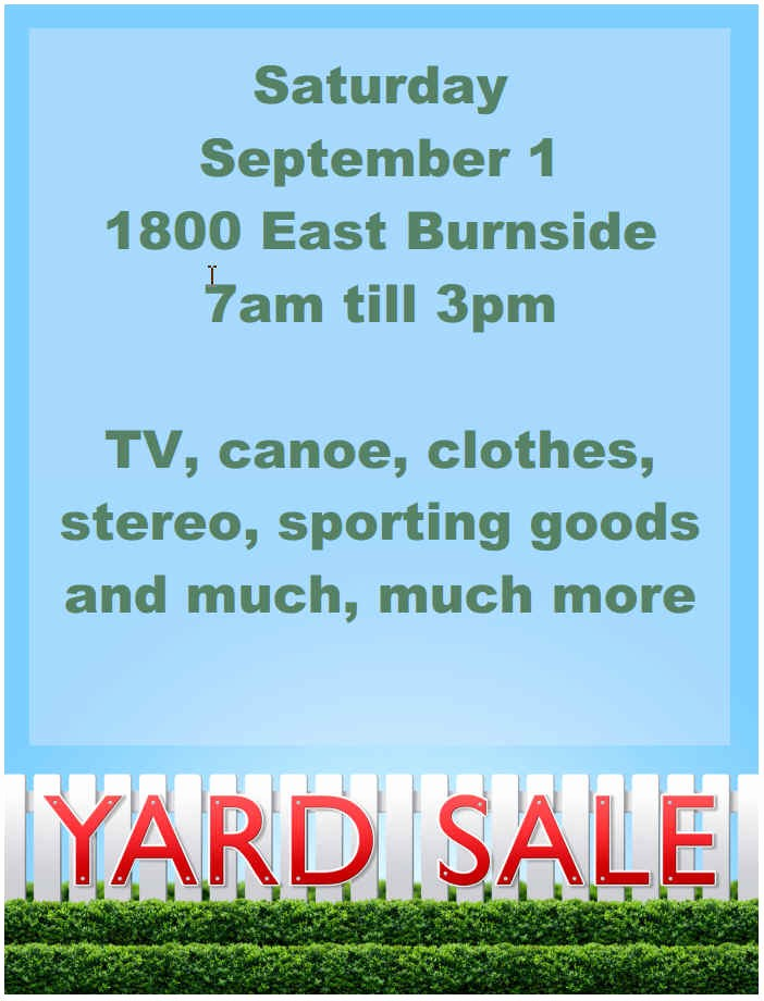 Community Yard Sale Sign Template Luxury 15 Free Yard Sale Flyers Great Help Demplates