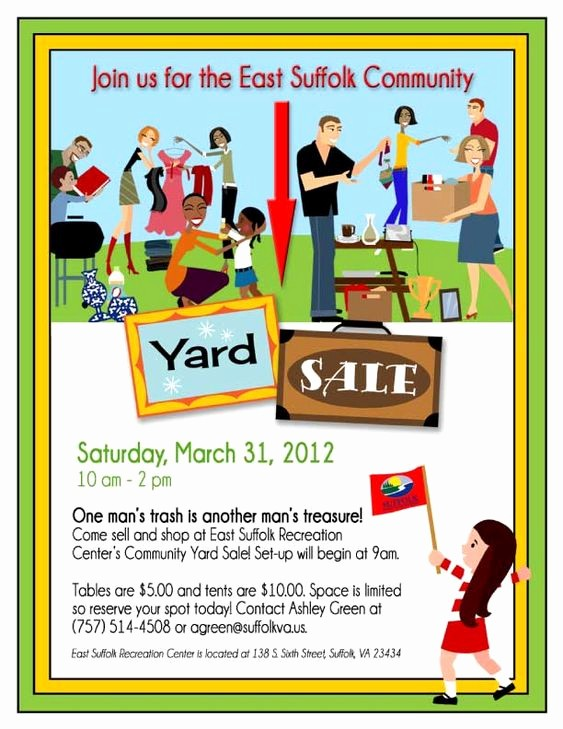 Community Yard Sale Sign Template New 14 Garage Sale Flyers 5