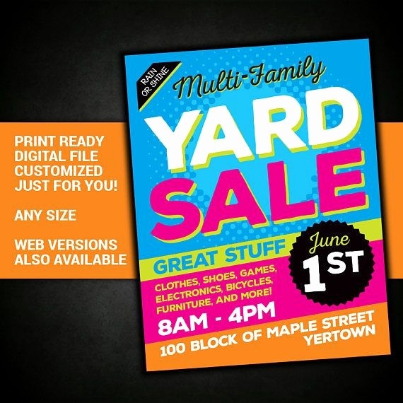 Community Yard Sale Sign Template New Best 25 Munity Garage Sale Ideas On Pinterest