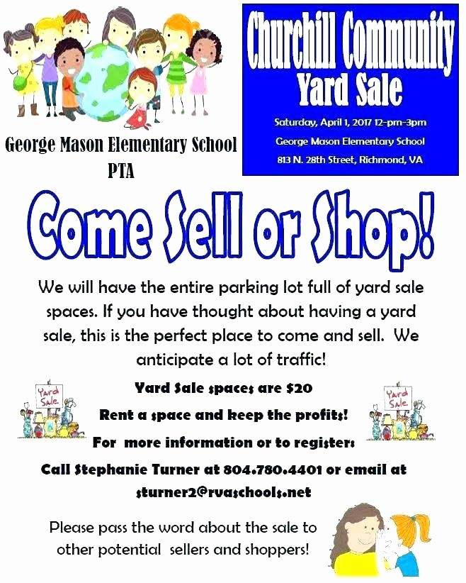 Community Yard Sale Sign Template New Yard Sales Flyers Yard Sale Flyers Inspirational Munity