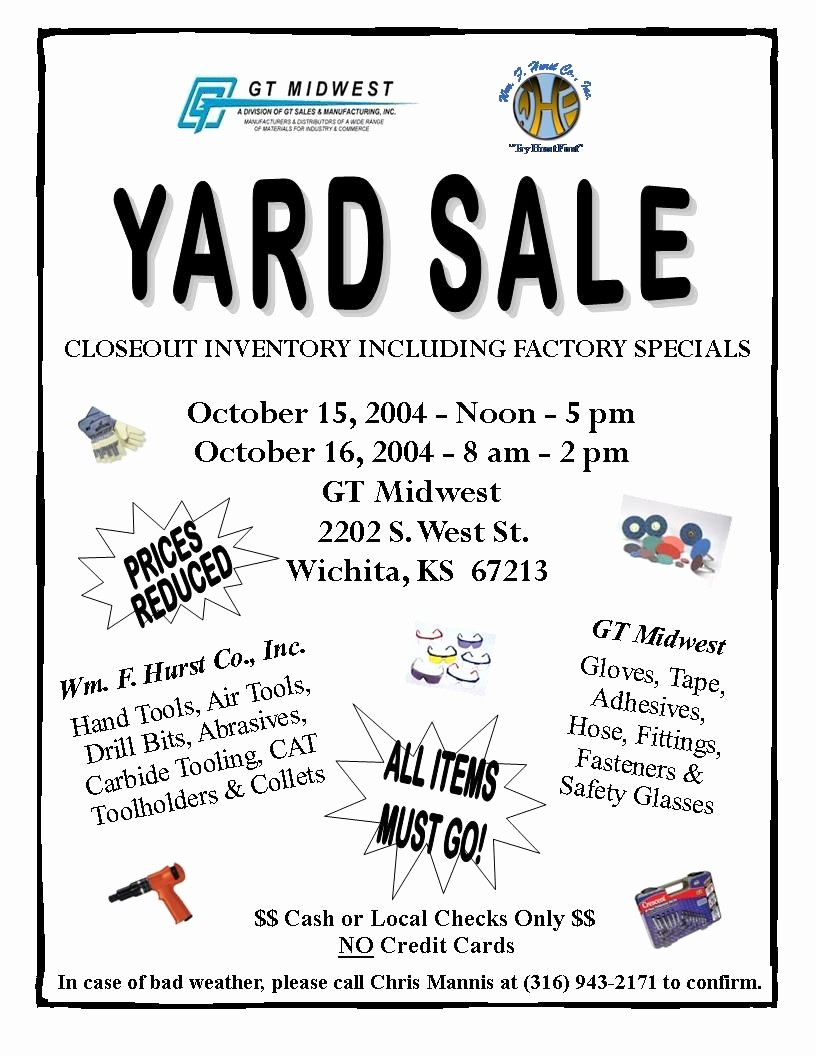 Community Yard Sale Sign Template Unique Church Yard Sale Flyer
