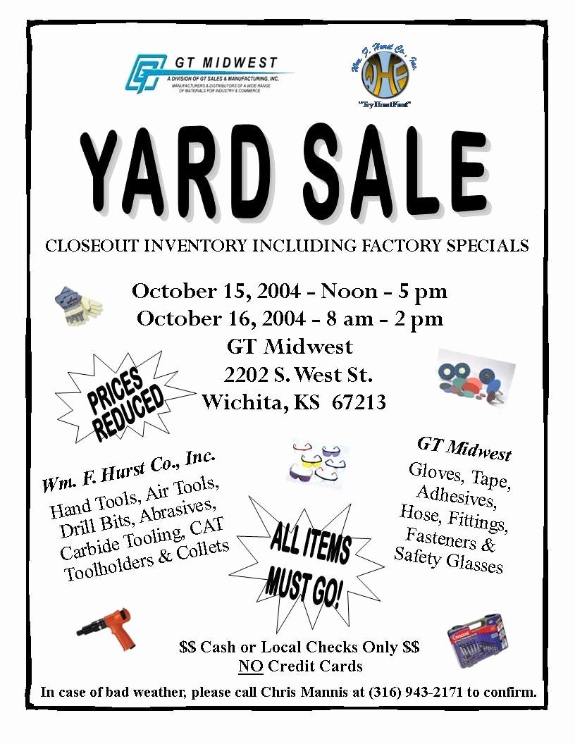 Community Yard Sale Sign Template Unique Church Yard Sale Flyer