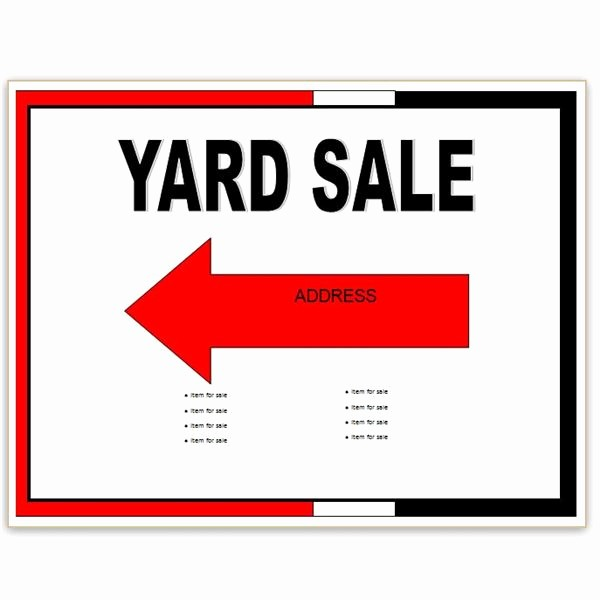 Community Yard Sale Sign Template Unique Find Free Flyer Templates for Word 10 Excellent Options
