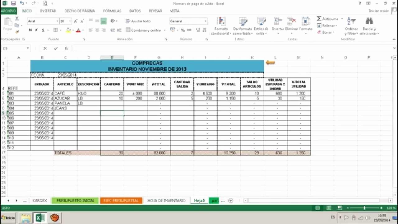 Como Hacer Inventario En Excel Awesome O Hacer Un formato De Inventario Libro De Inventario En