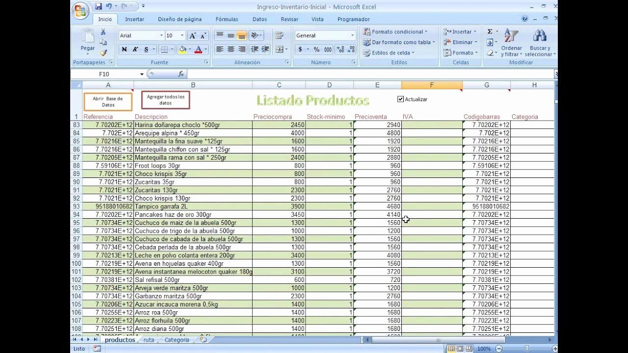 Como Hacer Inventario En Excel Beautiful Cómo Subir El Inventario Inicial Desde Una Plantilla De
