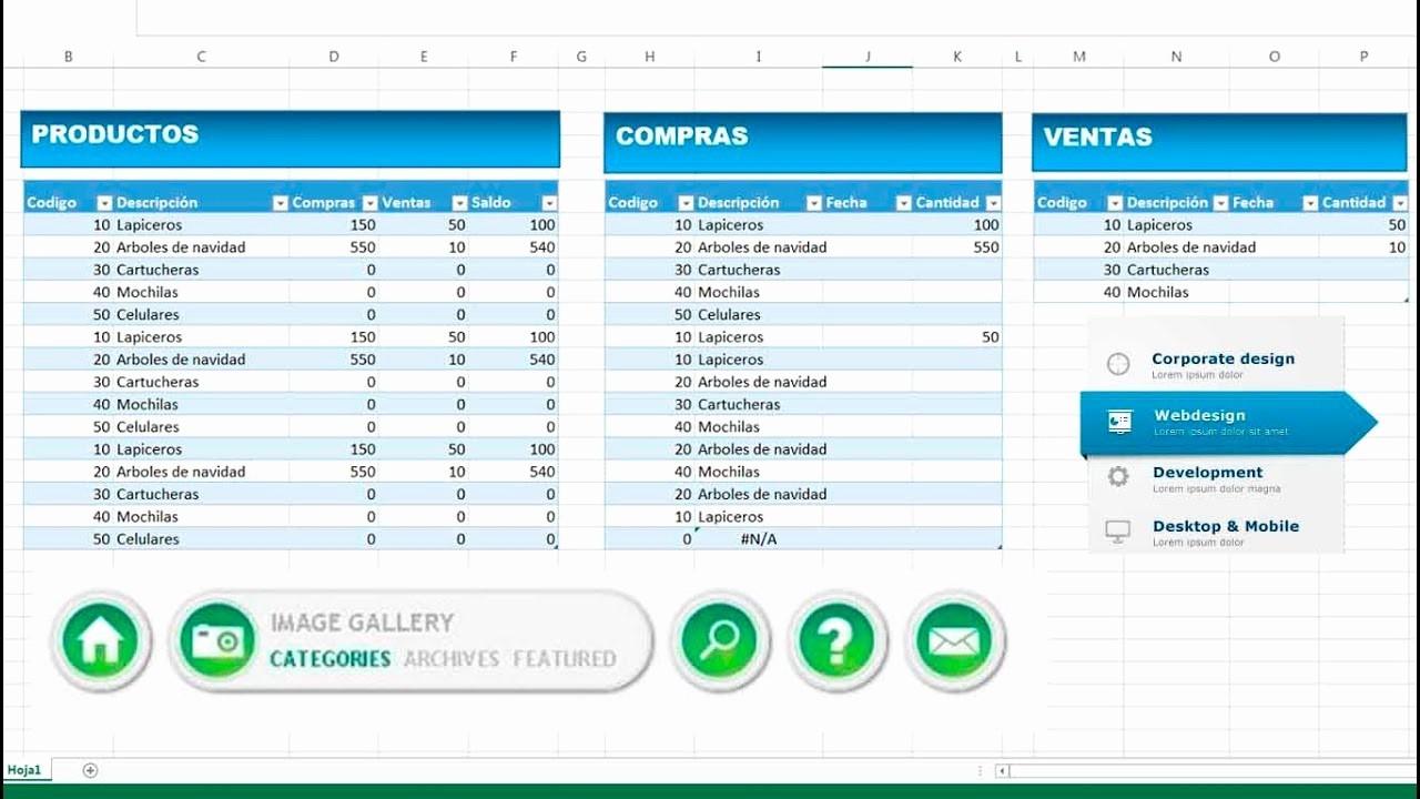 Como Hacer Inventario En Excel Best Of Excel Cmo Hacer Inventario Y Control De Stock Entradas Y