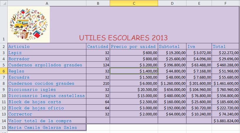 Como Hacer Inventario En Excel Fresh Camila Galarza