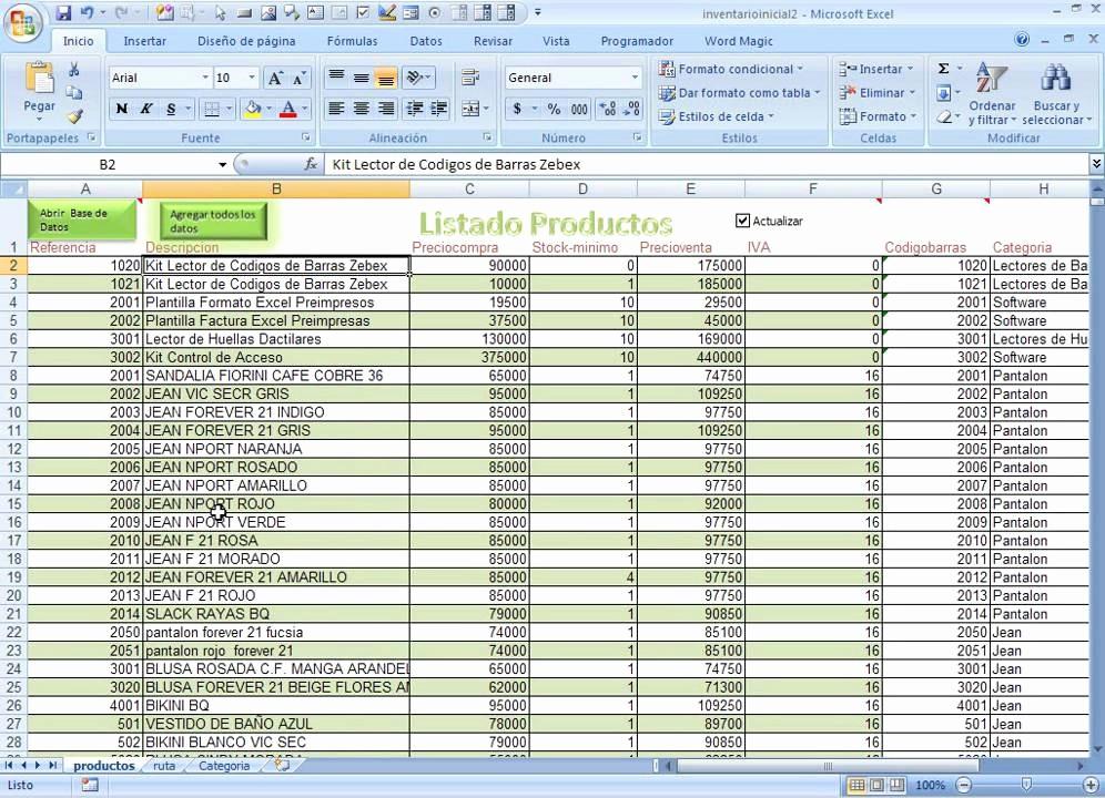 Como Hacer Inventario En Excel Inspirational Categorias Y Productos Creando Un Inventario Inicial