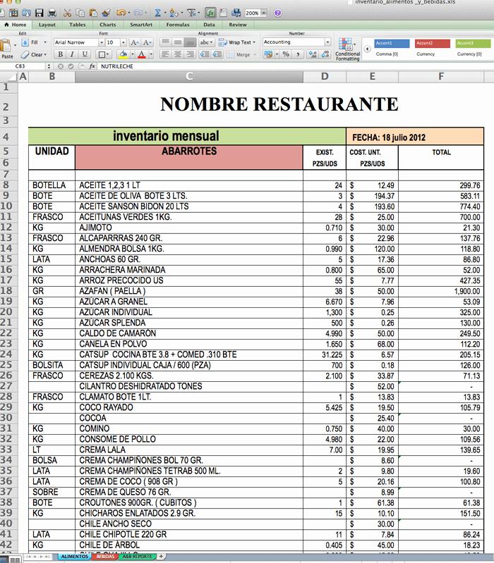 Como Hacer Inventario En Excel Lovely formatos De Cotizaciones En Excel Gratis