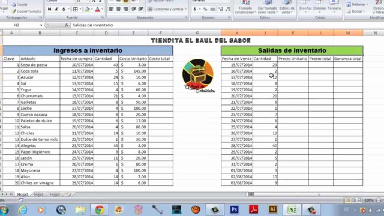Como Hacer Inventario En Excel Lovely O Hacer Un Inventario Fácil En Excel